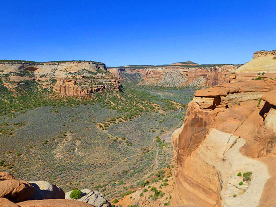 View over Ute Canyon from Liberty Cap