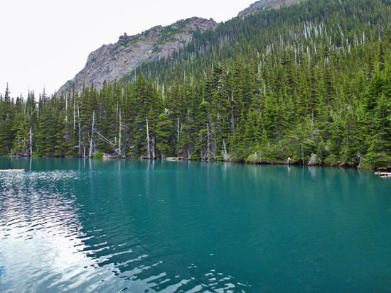 The emerald green waters of Buckhorn Lake (5,095')